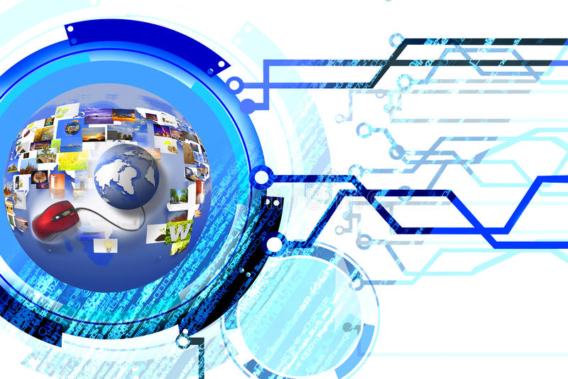 Download Mechanical network stock illustration. Image of detect - 23886428