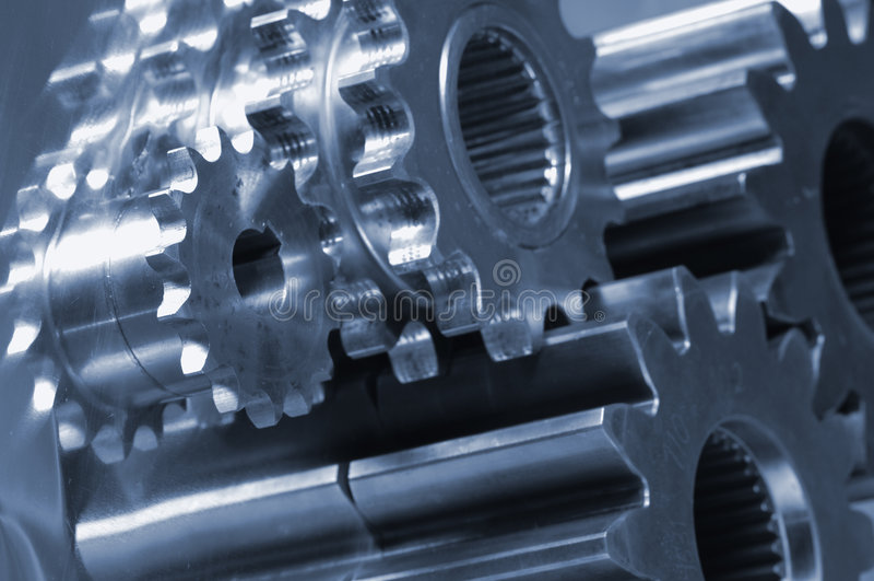 Mechanical-parts idea stock image