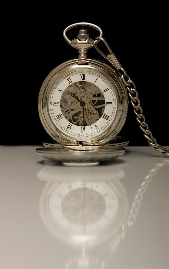 Mechanical pocket clock royalty free stock image