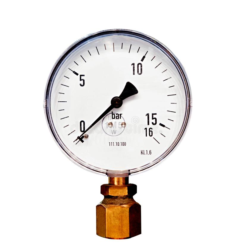 Mechanical pressure gauges. Traditional instruments for measuring pressure royalty free stock images