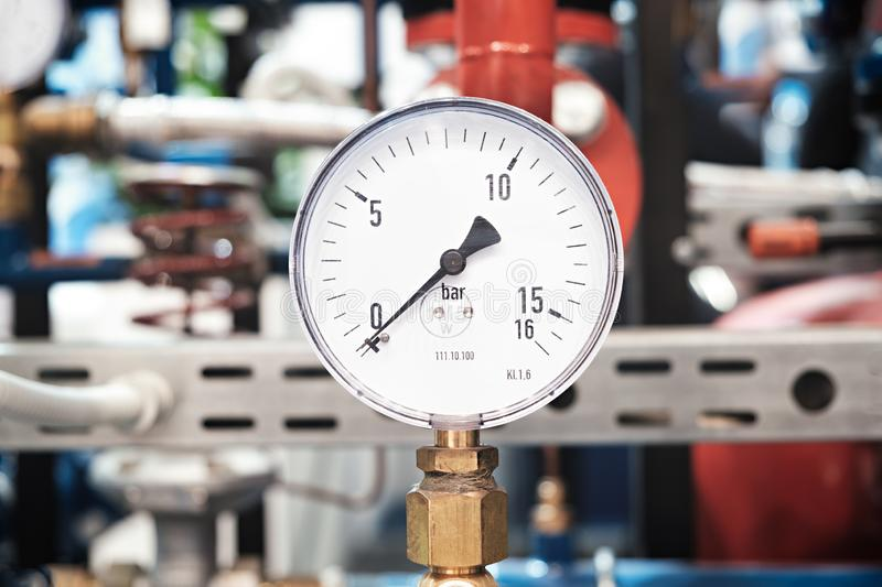 Mechanical pressure gauges. Traditional instruments for measuring pressure royalty free stock photo
