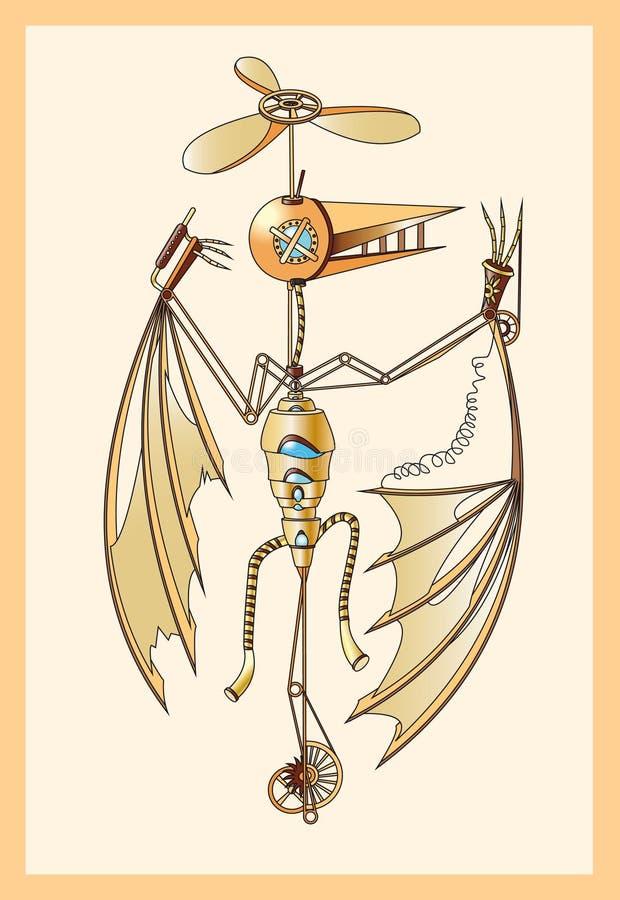 Mechanical Pterodactyl Royalty Free Stock Image