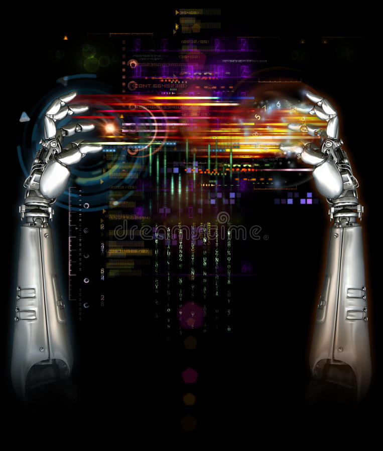 Download Mechanical Robot Hands Royalty Free Stock Photos - Image: 13443298