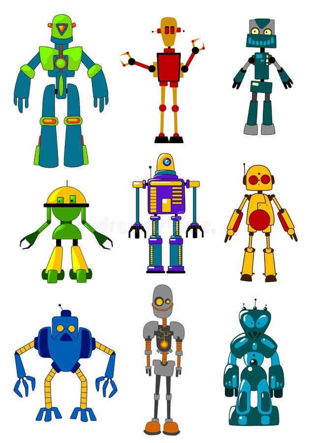 Mechanical robots royalty free illustration