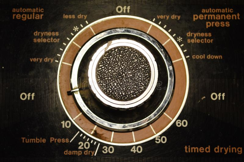 Mechanical Settings on Home Appliance stock photography