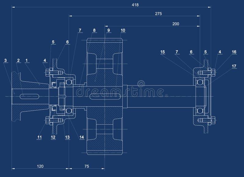 Download Mechanical sketch stock illustration. Image of industry - 11787963