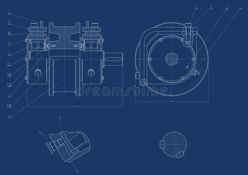 Mechanical Sketch Royalty Free Stock Photo
