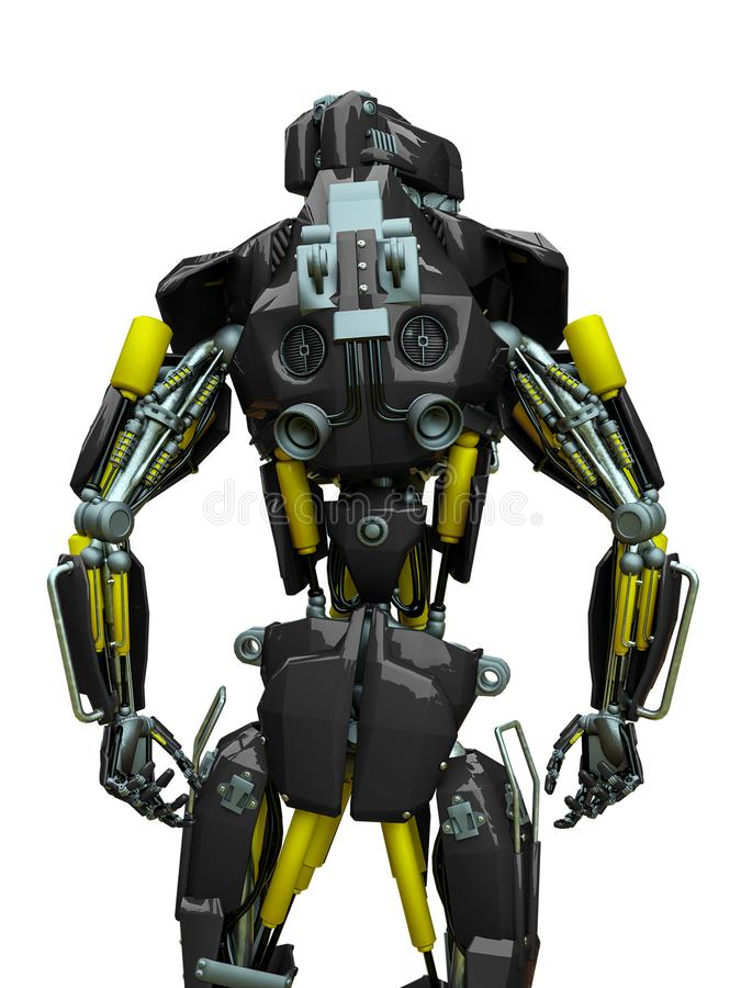Free Mechanical Soldier Rear View Stock Photography - 160874062