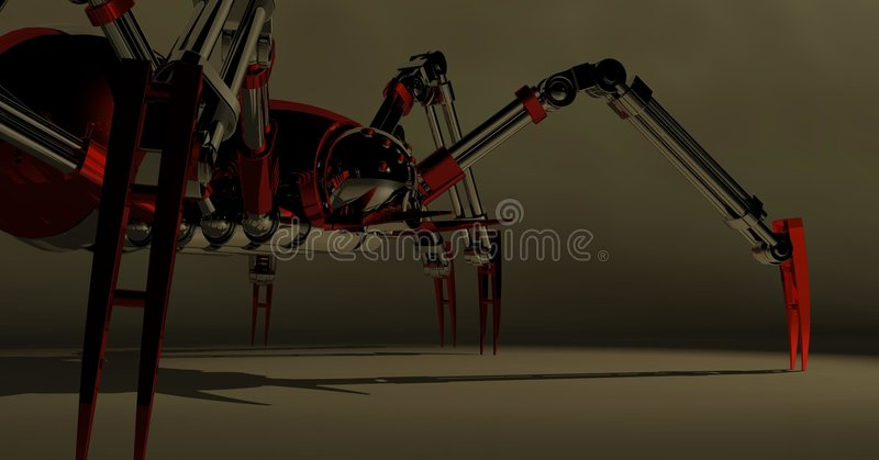 Download Mechanical spider stock illustration. Image of cute, graphic - 6827628