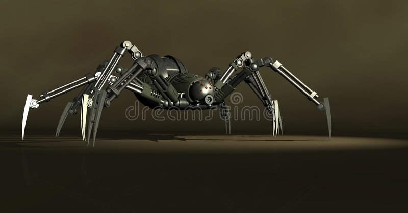 Mechanical spider royalty free illustration