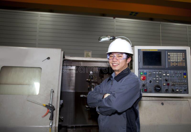 Mechanical Technician Of Cnc Machine Royalty Free Stock Photo
