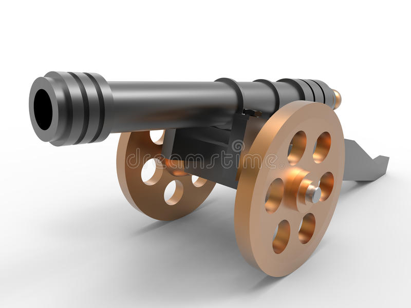 Mechanical toy cannon royalty free illustration
