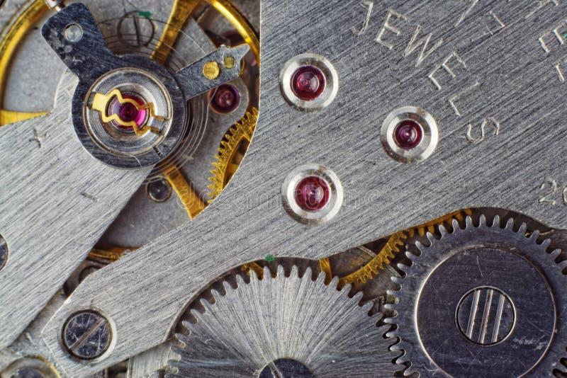 Mechanical watch mechanism royalty free stock photos