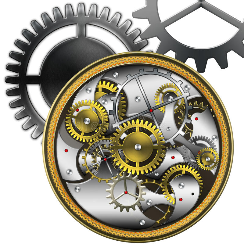 Mechanical watches royalty free illustration