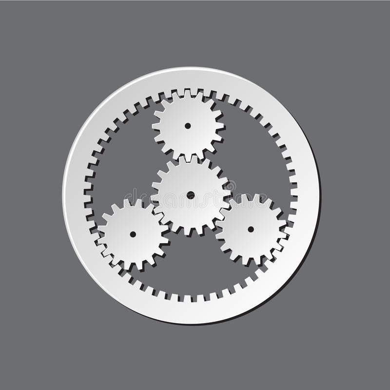 Mechanical watches gears stock illustration