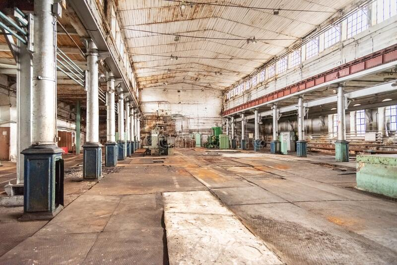 Mechanical workshop of Old Mining and metallurgical plant royalty free stock photos
