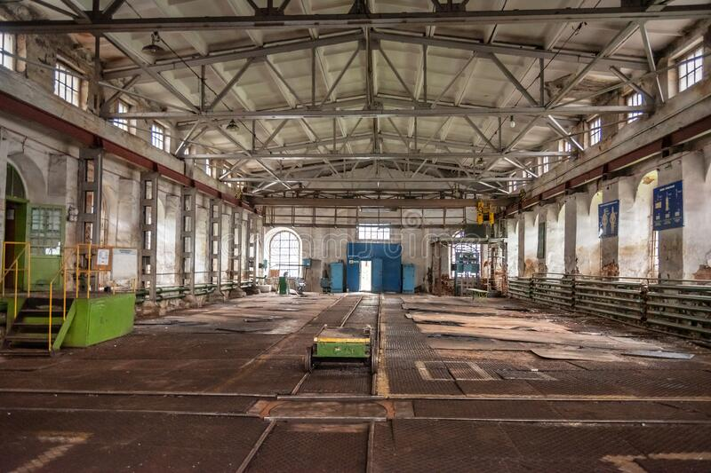 Mechanical workshop of Old Mining and metallurgical plant royalty free stock images
