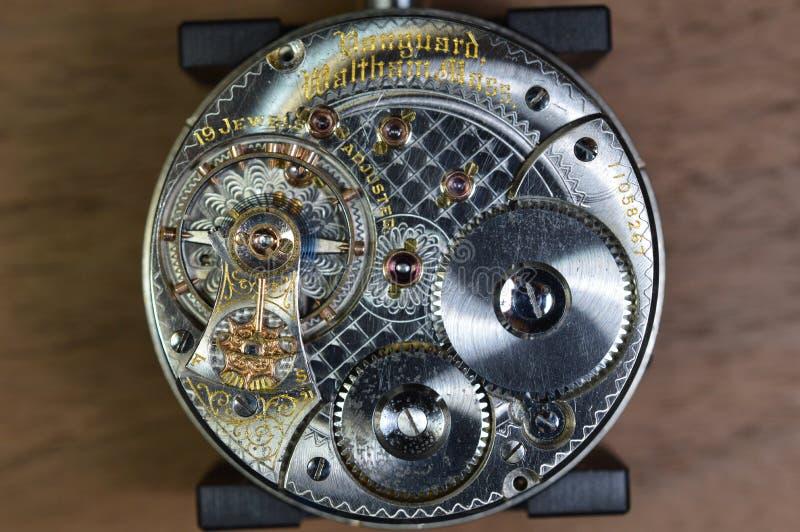 Mechanical wrist watch stock image
