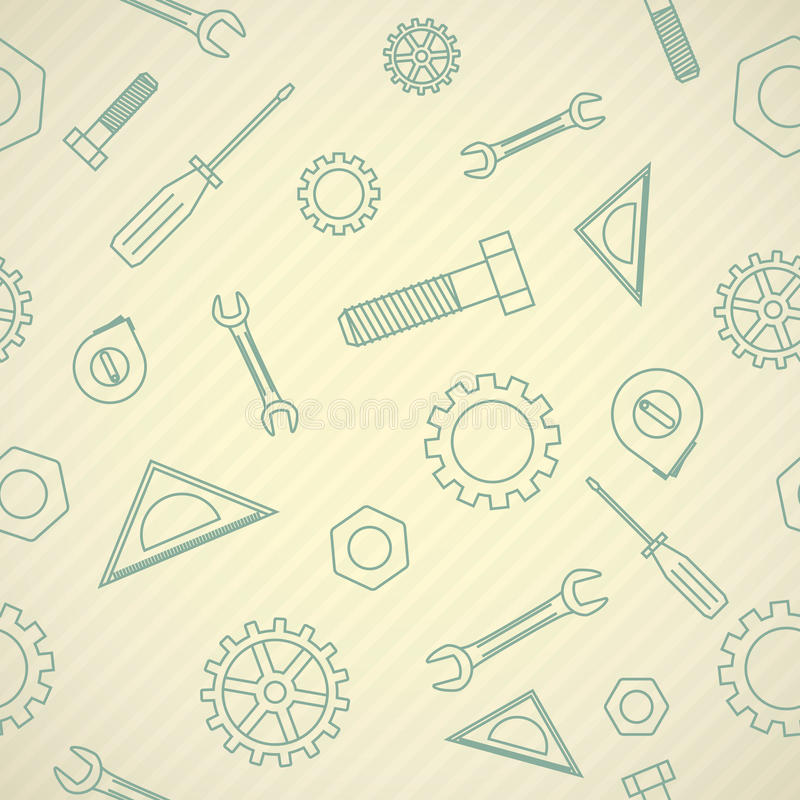 Mechanics icon pattern stock illustration