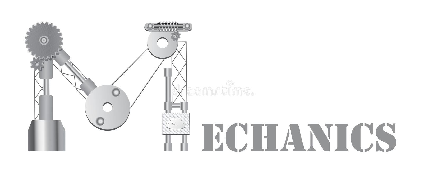 Mechanics logo royalty free illustration