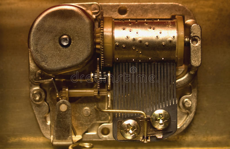 Download Mechanics of a music box stock photo. Image of nuts, retro - 16459538