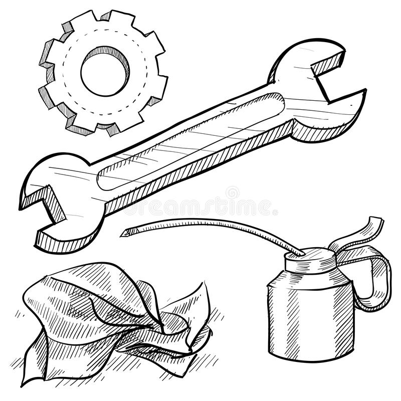 Download Mechanics Object Sketch Stock Photos - Image: 22354473