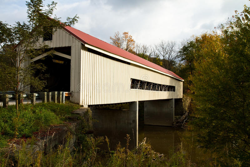 Mechanicsville abgedeckte Brücke lizenzfreies stockfoto