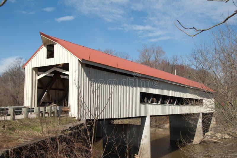 Mechanicsville-Straßen-überdachte Brücke lizenzfreie stockbilder