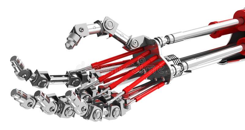 Mechaniczna ręka royalty ilustracja