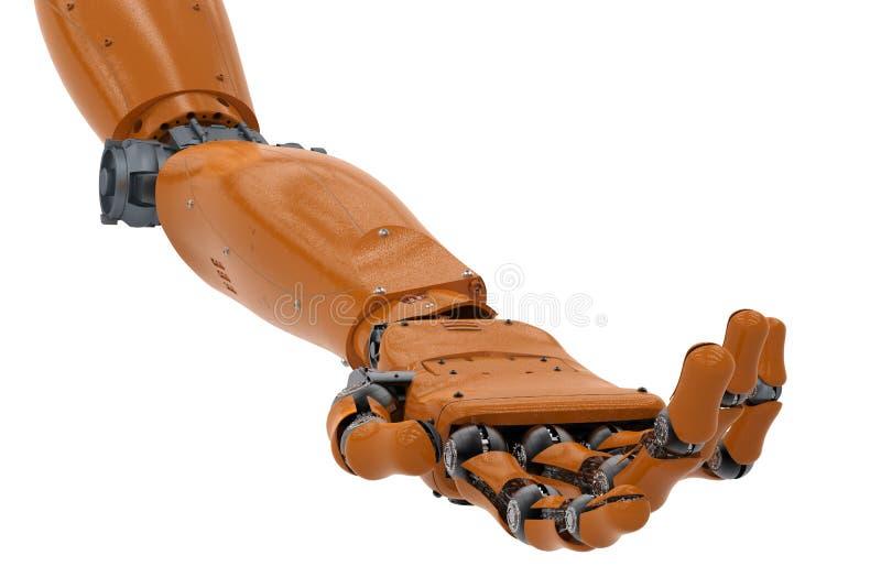 Mechaniczna ręka z ręki palmą otwartą ilustracji