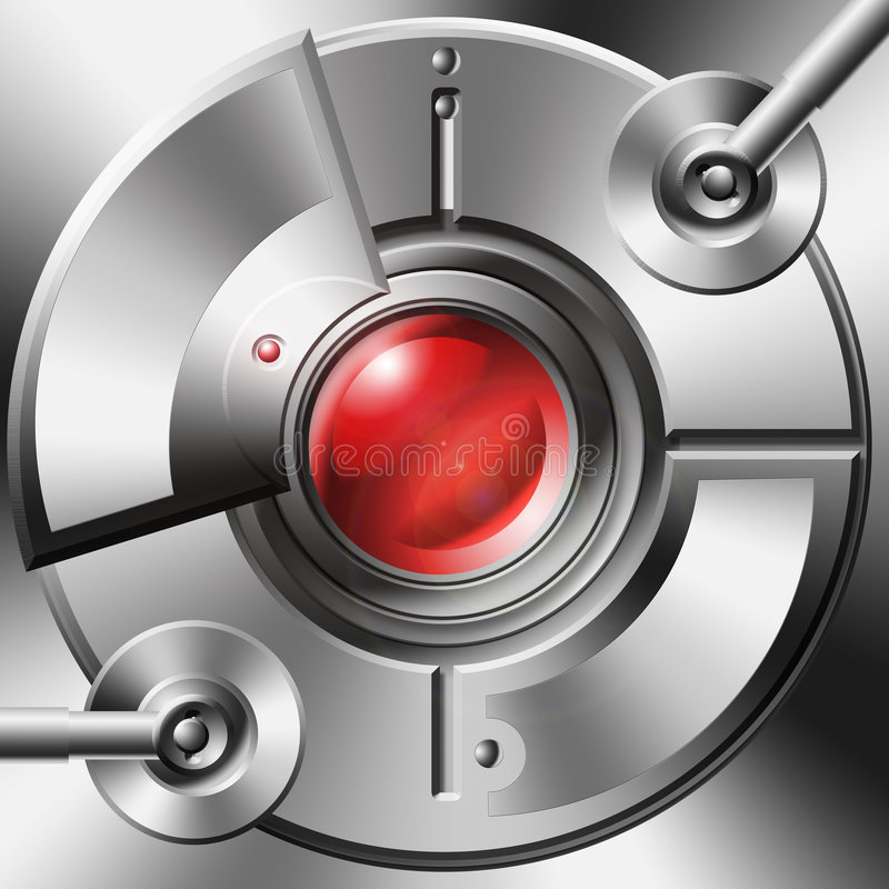 mechaniczne urządzenia wzrokowy ilustracja wektor