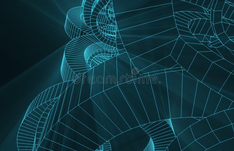 Mechaniczny Drucianej siatki tło ilustracja wektor