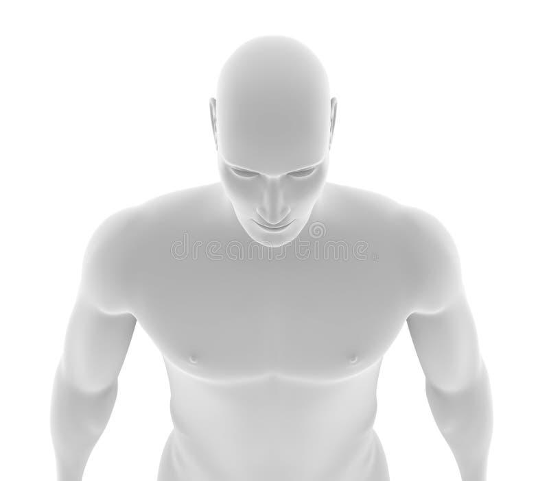 Mechaniczny mężczyzna z ludzką skórą royalty ilustracja