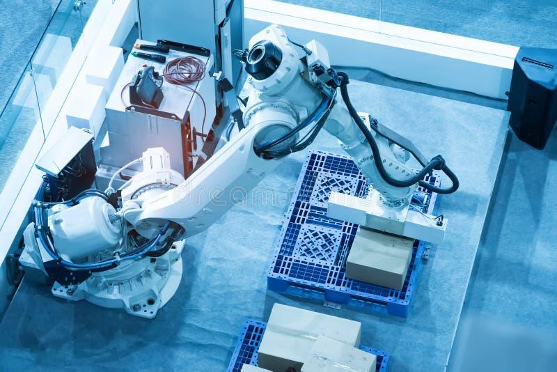 Mechaniczny maszynowy narz?dzie w przemys?owej manufaktury ro?linie, M?drze fabryka obraz royalty free