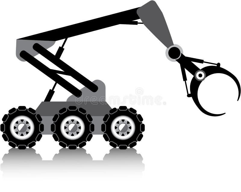 Mechaniczny ręka wektor ilustracji