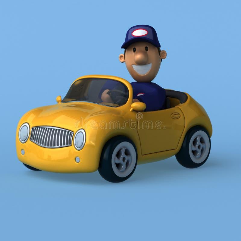 Mechanik - 3D ilustracja zdjęcie stock