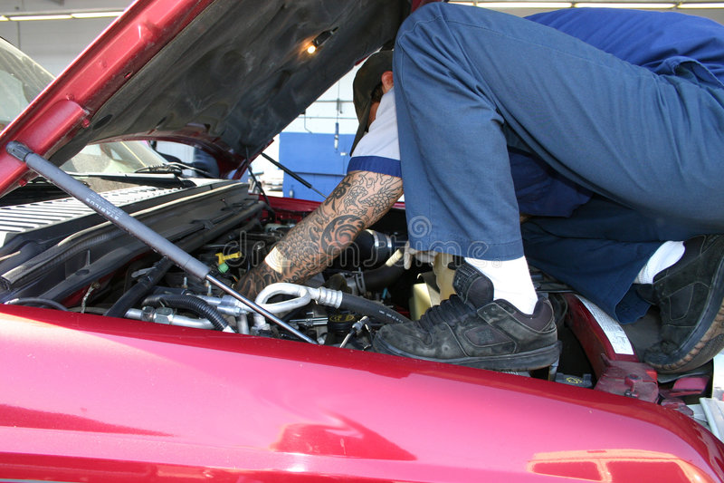 mechanik hood obrazy royalty free