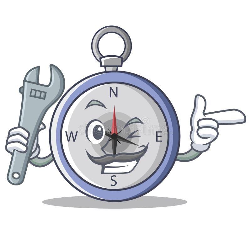 Mechanika charakteru kreskówki cyrklowy styl ilustracji