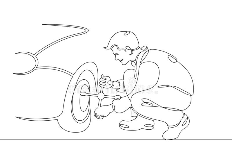 Mechanika garażu samochodowej usługi auto naprawa royalty ilustracja