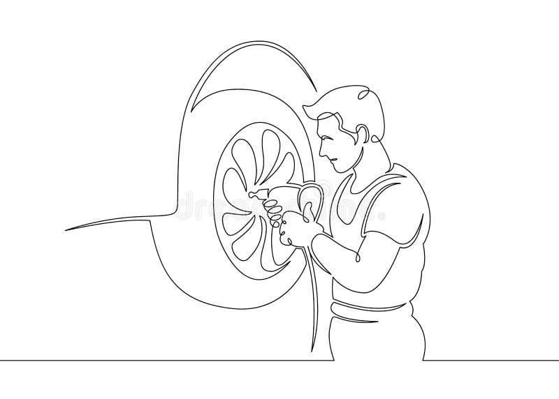 Mechanika garażu samochodowej usługi auto naprawa ilustracji