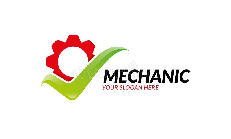 Mechanika loga szablon ilustracja wektor