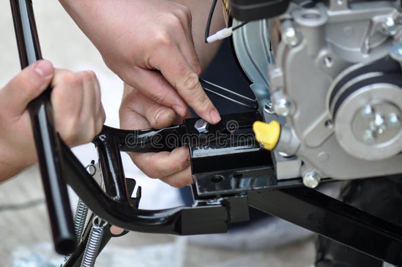 Mechanika montażu silnik obraz royalty free