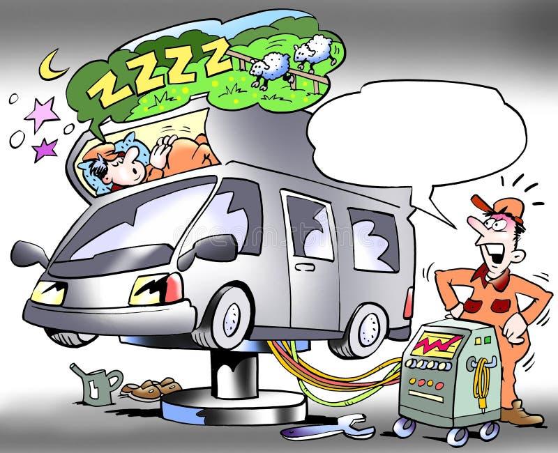 Mechanika probierczy sypialny przedział obozowicz ilustracji
