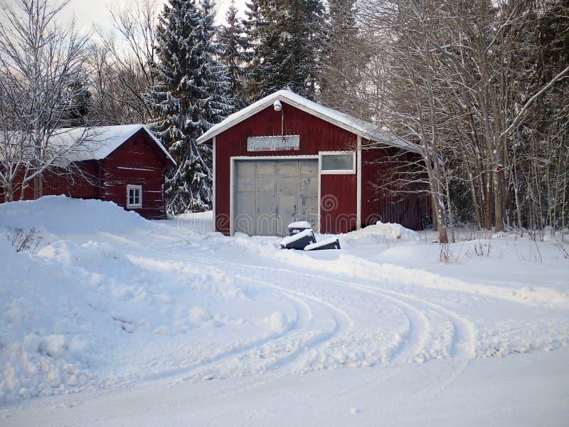 Mechaniker Workshop in Björkmo - Hudiksvall lizenzfreies stockfoto