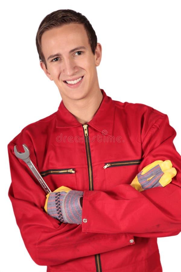 Mechanikerauszubildender stockbild