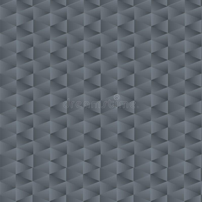 Mechanikerdreieckmustervektormusterecken der Steigung des blauen Graus geometrischer Glasfunkelnhintergrund der kalten dunklen Me stock abbildung