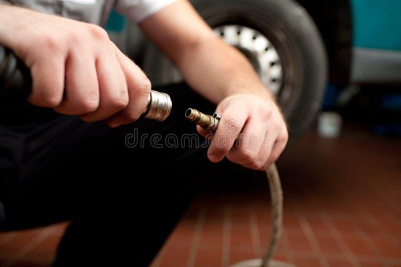 Mechanikernahaufnahme stockfotos