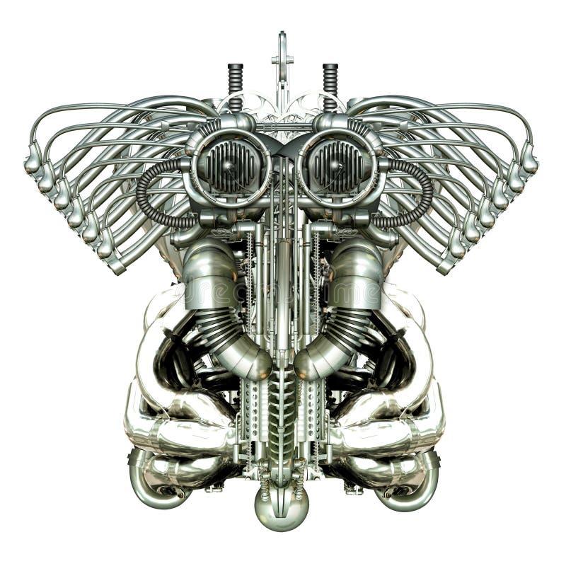 Mechanisch cijfer vector illustratie