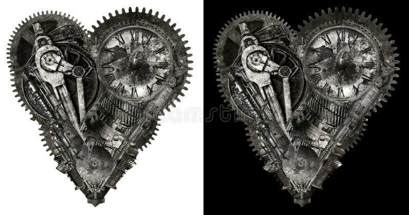 Mechanisch Menselijk Geïsoleerd Liefdehart stock fotografie