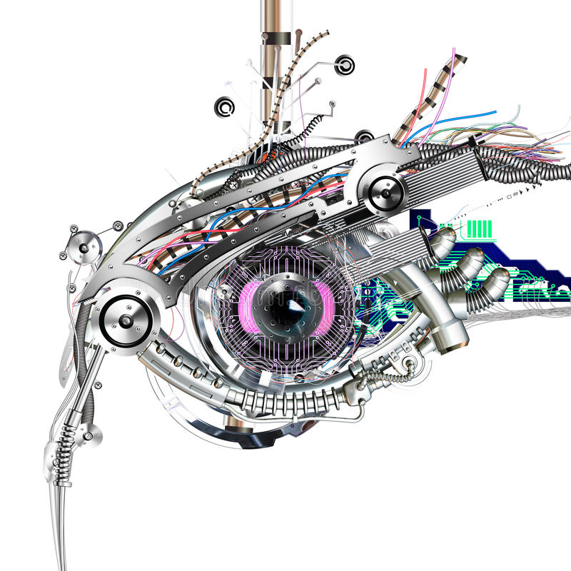 Mechanisch oog stock illustratie
